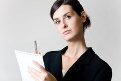 Secrétaire ou femme d'affaires Photo stock