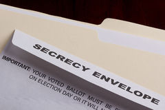 Secrecy envelope Royalty Free Stock Photos