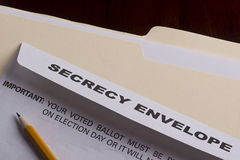 Secrecy envelope Royalty Free Stock Photo