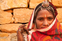 Secrecy traditional Indian girl Royalty Free Stock Photos