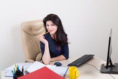 Secretária atrativa Imagem de Stock