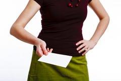 Secretária com um cartão Imagens de Stock