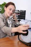 Secretária da mulher Fotografia de Stock