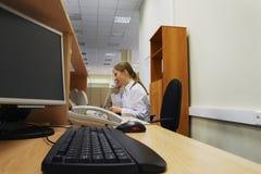 Secretária do escritório Imagens de Stock