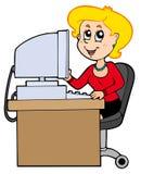 Secretária dos desenhos animados Foto de Stock Royalty Free
