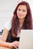 Secretária Red-haired imagem de stock royalty free