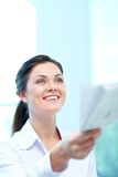 Secretário feliz Foto de Stock Royalty Free