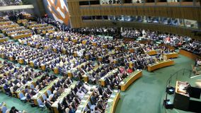 Secretário geral Ban Ki-moon do UN vídeos de arquivo
