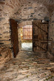 Secret. Castle and door since 1874 at Mount Athos, Greece royalty free stock photography