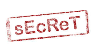 Secret. Red stamp on white background with text secret Royalty Free Stock Photos