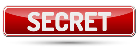 SECRET - Abstract beautiful button with text. Royalty Free Stock Photo
