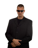 Secret agent. With glasses studio isolated Stock Photos