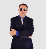 Secret Agent Boyguard with Sunglasses Royalty Free Stock Image