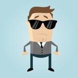 Secret agent. Funny illustration of a secret agent vector illustration
