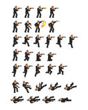 Secret Agent Game Sprite. Vector Illustration of Secret Agent Game Sprite Royalty Free Stock Photography