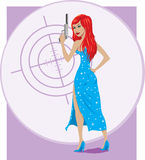 Secret Agent girl Royalty Free Stock Images