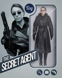 The secret agent lifelike doll Stock Photos
