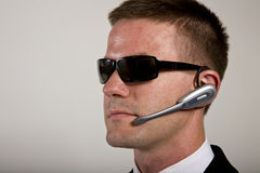 Secret Agent Listening Stock Image