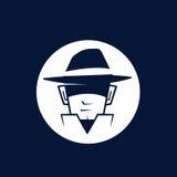 Secret Agent. Logo with hat stock illustration