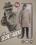 The secret agent realistic doll Royalty Free Stock Images
