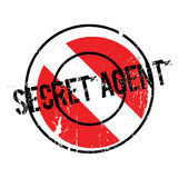 Secret Agent rubber stamp Stock Photography