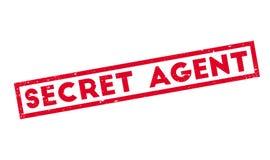 Secret Agent rubber stamp Stock Photo