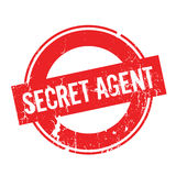 Secret Agent rubber stamp. Grunge design with dust scratches. Effects can be easily removed for a clean, crisp look. Color is easily changed royalty free illustration