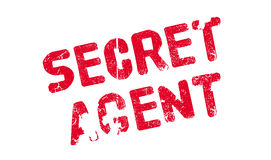 Secret Agent rubber stamp. Grunge design with dust scratches. Effects can be easily removed for a clean, crisp look. Color is easily changed vector illustration