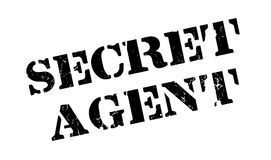 Secret Agent rubber stamp Royalty Free Stock Photos