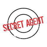Secret Agent rubber stamp Stock Photos