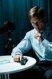 Secret agent and surveillance. Image of secret agent and surveillance mission Royalty Free Stock Image