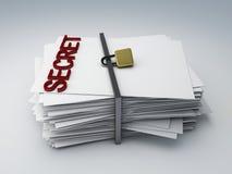 Secret archive. Image of secret archive paper, 3d illustration Stock Image
