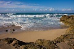 A Secret Beach. An idyllic Secret Beach on Nort Shore Oahu, Hawaii stock photos
