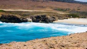 Secret beach in aruba. Wonderful beach in Aruba. Beautiful beach Stock Images