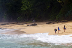 Secret Beach, Kauai, Hawaii stock images
