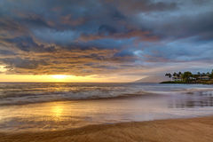 Secret Beach Sunset Stock Photos