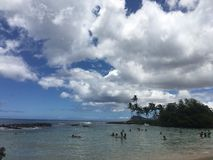 Secret Beach. Taken at a little visited cove in Ko'Olina on the island of Stock Photos