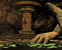 Secret Cave, 3D CG Stock Photos