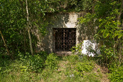 Secret chamber (stole in abandoned mine) Royalty Free Stock Photo