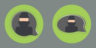 Secret chat flat style icon stock illustration
