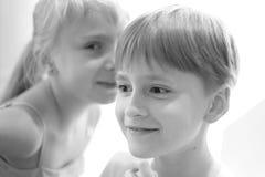 Secret children`s talk Royalty Free Stock Photo