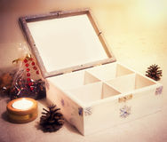 Secret christmas chest Royalty Free Stock Photos