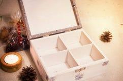 Secret christmas chest Stock Photo