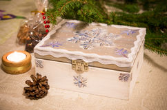 Secret christmas chest Stock Photo