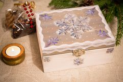 Secret christmas chest Royalty Free Stock Images