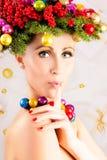 Secret christmas surprise Stock Photo