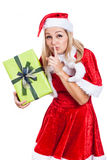 Secret Christmas woman Royalty Free Stock Photography