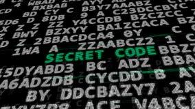 Secret Code Stock Image