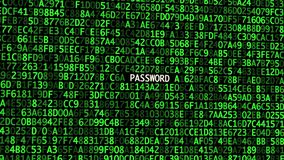 The Secret Codes On Screen  Concept Of Cyber Security  Stock Footage