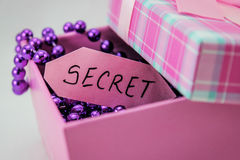 Secret. Coming out of the box Stock Photography